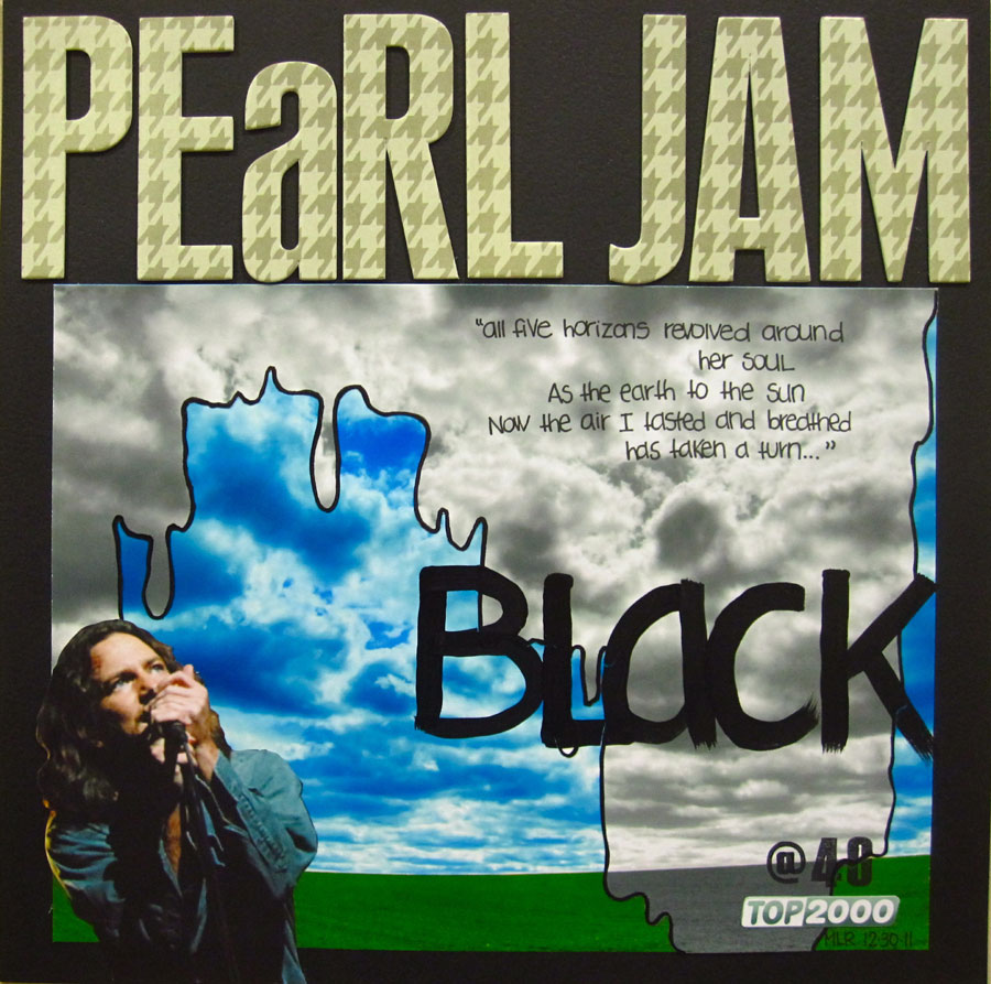 """essay on pearl jams black Seen as simply the agonizing rejection felt by a man deserted by the woman he loves, the lyrics from the song """"black"""" by pearl jam moves from the writer's reminiscence about his good times with his former love to coming to terms with the fact that he had been deserted, left heart broken by the love of his life as pearl writes in this line: """"oh the pictures have all been washed in black."""