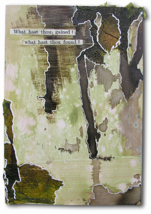 art journal, wasteland, letter