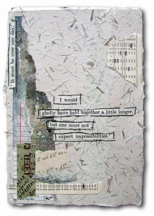 art journal, letter, wasteland