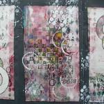 Gelatin monoprint triptych