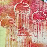 How To Use a Gelli Plate to Create an Art Journal Spread